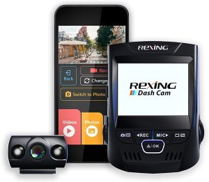 Rexing V1P 2.4 inch LCD FHD 1080p 170 Degree Wide Angle Dual Channel Wi-Fi Dashboard Camera Recorder Car Dash Cam with Rear Camera