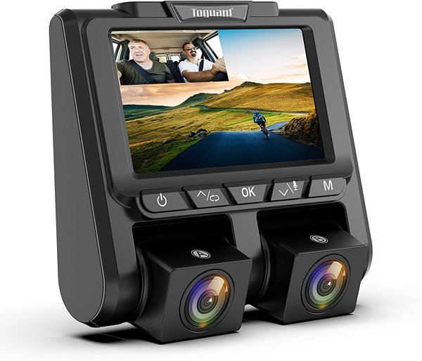 TOGUARD Uber Dual Dash Cam Full HD 1080P+1080P Inside and Outside Car Camera Dash Cams 3 inch LCD 340° Dashboard Camera with Sony Sensor