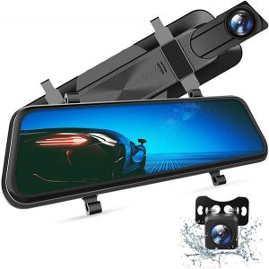 VanTop H610 10 inch 2.5K Mirror Dash Cam for Cars with Full Touch Screen