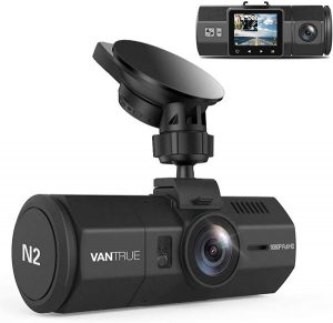 Vantrue N2 Uber Dual Dash Cam-1080P Inside and Outside Dash Camera for Cars 1.5 inch Near 360° Wide Angle Lyft Dashboard Cam w Parking Mode